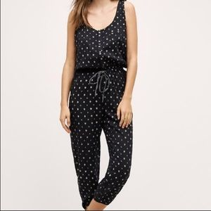 Geometric Print Black Jumpsuit from Anthropology